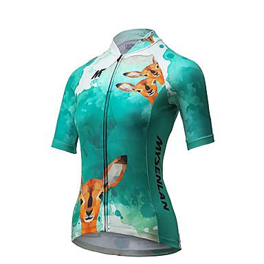 Mysenlan Mulheres Camisa para Ciclismo Moto Camisa/Roupas Para Esporte Poliéster