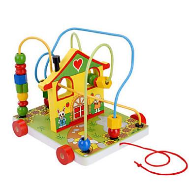 Stavební bloky Hračky Dům Dřevo Dětské Pieces