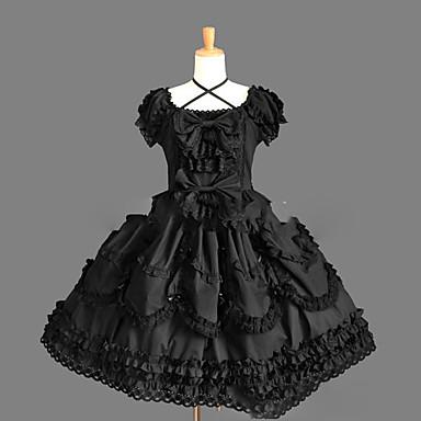 Gothic Lolita Princeznovské Punk Dámské Dívčí Jednodílné Šaty Cosplay Krátký rukáv Krátký / Mini