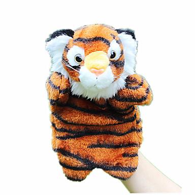 Fantoches de dedo Fantoches Fantoche Rabbit Tiger Fofinho Animais Adorável Tecido Felpudo Felpudo Crianças Para Meninas Brinquedos Dom