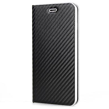 Capinha Para Apple iPhone X / iPhone 8 Porta-Cartão / Flip / Magnética Capa Proteção Completa Sólido Rígida PU Leather para iPhone X / iPhone 8 Plus / iPhone 8