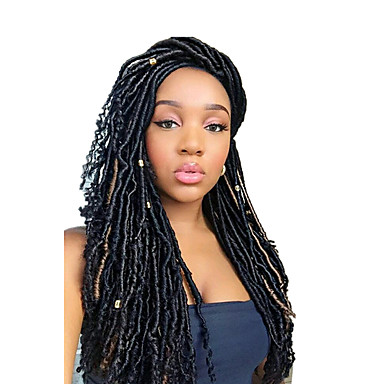 braiding hair curly dreadlocks faux locs synthetic hair 1pc pack