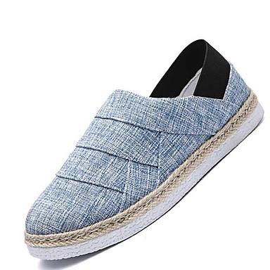Miehet kengät Canvas 봄/Syksy Vapaa-aika Mokkasiinit varten Kausaliteetti Musta Sininen Khaki