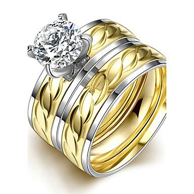 online retailer 08a51 63c23 [$7.34] Damen Bandringe Ring Verlobungsring Modisch Simple Style  Brautkleidung Titanstahl Kreisförmig Schmuck Weihnachts Geschenke Hochzeit  Party