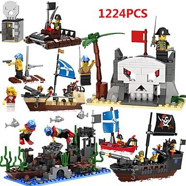 Blocos de Construir Brinquedo Educativo Brinquedos Navio Piratas Plásticos Crianças Para Meninas Unisexo Peças