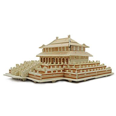 Puzzle 3D puzzle Stavební bloky DIY hračky Architektura Dřevo Modelování