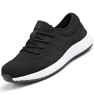Miesten kengät PU Kevät Kesä Comfort Urheilukengät Kävely varten Kausaliteetti Musta Sininen