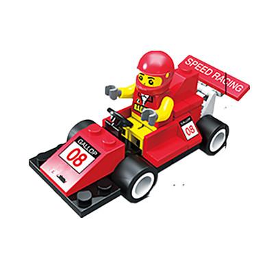 JIE STAR Carros de Brinquedo Blocos de Construir Faça Você Mesmo Criativo Carro de Corrida Quadrada Carro de Corrida Para Meninos Unisexo