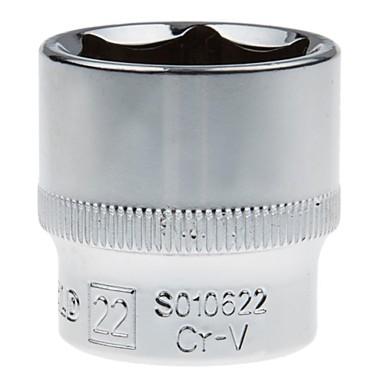 Ocelový štít 10mm série metrický 6 úhel standardní pouzdro 22mm / 1 podpora
