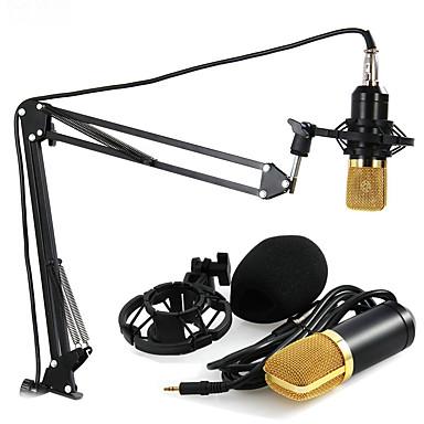 3.5mm Microfone Cabeada Microfone Condensador Microfone Portátil Para Microfone de Computador