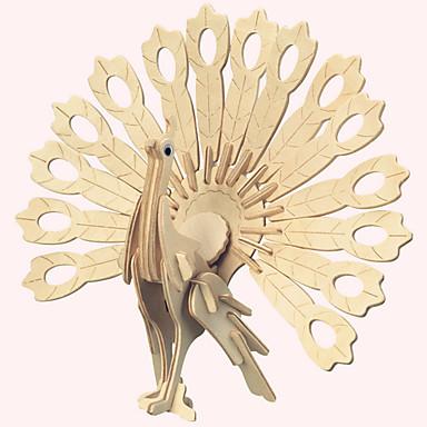 Quebra-Cabeças 3D Quebra-Cabeça Pássaro Faça Você Mesmo Madeira Natural Crianças Unisexo Dom