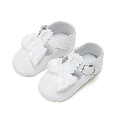 Para Meninas Sapatos Couro Ecológico Primavera Primeiros Passos Mocassins e Slip-Ons Laço para Crianças Vermelho / Rosa claro / Amêndoa / Festas & Noite