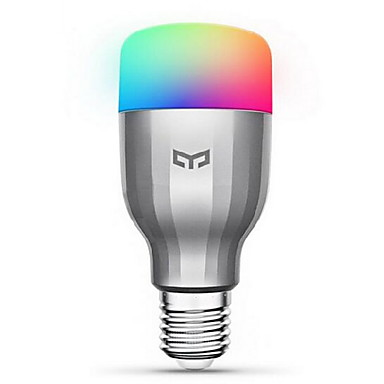 XiaoMi Yeelight Colorful RGB SMD LED Smart Bulb 19 LEDS 600lm 1700-6500K 220-240V WIFI Remote Control #05944003