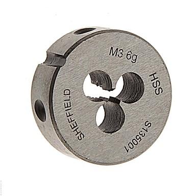 Stahlschild metrisch Hochgeschwindigkeitsstahlplatte m3 / 1 Zähne