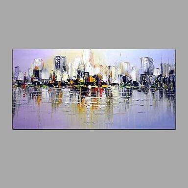 Hang-Ölgemälde Handgemalte - Landschaft Modern / Europäischer Stil Segeltuch
