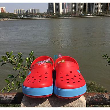 Unisex Sandaalit Kevät PU Valkoinen Musta Punainen Alle 1in