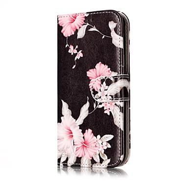 Capinha Para Samsung Galaxy J7 (2016) / J5 (2016) Carteira / Porta-Cartão / Com Suporte Capa Proteção Completa Flor Rígida PU Leather para J7 (2016) / J7 / J5 (2017)