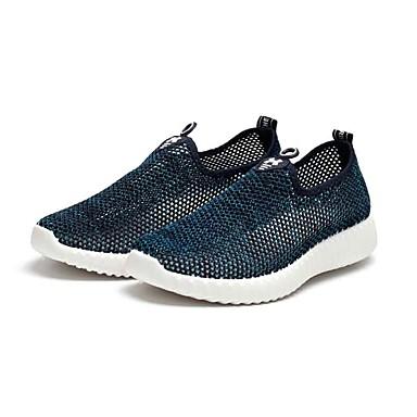 Homens sapatos Tule Verão Conforto Mocassins e Slip-Ons Caminhada para Casual Preto Azul