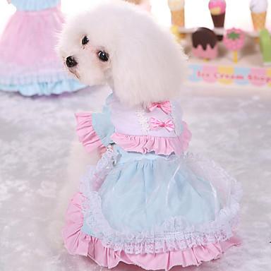 Hund Kleider Hundekleidung Prinzessin Rosa Hellblau Baumwolle Kostüm Für Haustiere Damen Niedlich Lässig/Alltäglich