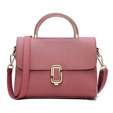 Damen Taschen Ganzjährig PU Umhängetasche für Schwarz Rote Rosa Grau Purpur