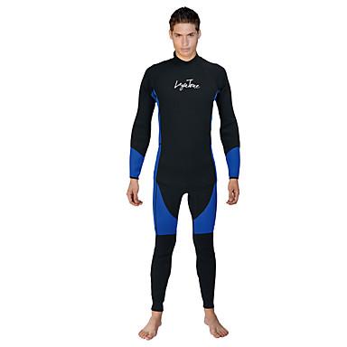 LAYATONE Homens 3mm Macacão de Mergulho Longo Fitness, Corrida e Yoga Terylene Fato de Mergulho Manga Longa Roupas de Mergulho - Mergulho