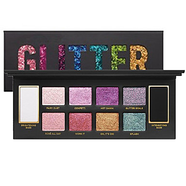 10 Colors Eyeshadow Palette / Glitter Men and Women / Eye Long Lasting Natural Daily Makeup / Halloween Makeup / Party Makeup Makeup Cosmetic / Shimmer