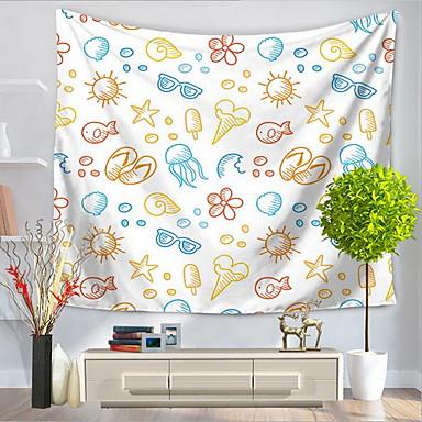 Plážový motiv / Zvíře Wall Decor Polyester / polyamid Vzor / Animák Wall Art, Nástěnné tapiserie Dekorace
