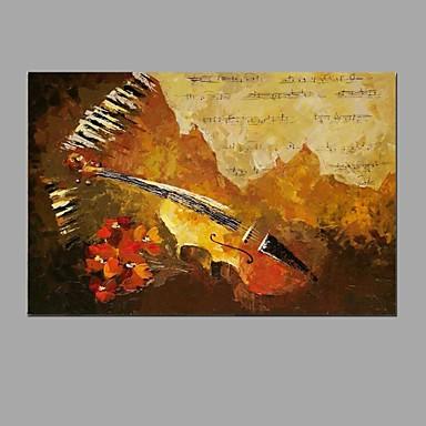 Hang-malované olejomalba Ručně malované - Abstraktní Abstraktní / Módní a moderní Plátno