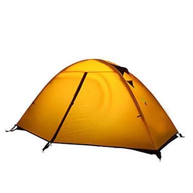 2 osoby Stříška Jednoduchý Camping Tent jeden pokoj Malé stany Odolný proti vlhkosti Voděodolný Odolný vůči UV záření pro Kempink Vevnitř