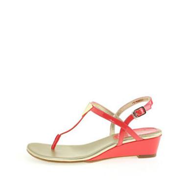 Naiset Sandaalit Comfort PU Kevät Kausaliteetti Comfort Punainen Tasapohja