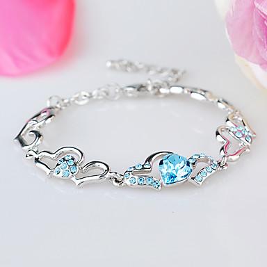 Dámské Řetězové & Ploché Náramky Šperky Vintage příroda Módní Ručně Vyrobeno Křišťál Slitina Square Shape Šperky Pro Svatební Párty