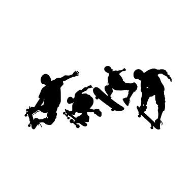 Autocolantes de Parede Decorativos - Adesivos de parede de pessoas Pessoas / Desenho Animado / Esportes Sala de Estar / Quarto / Banheiro