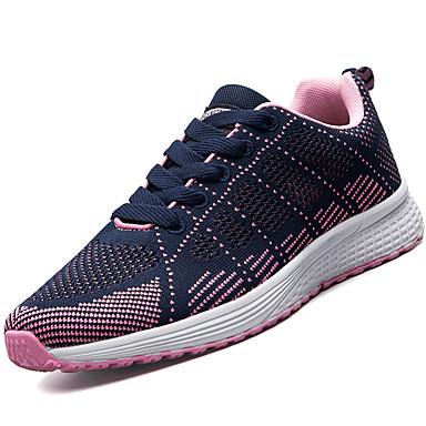 Mulheres Sapatos Couro Ecológico Primavera Verão Tênis Salto Baixo para Preto Roxo Vermelho