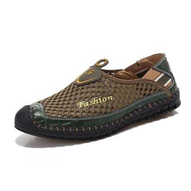 Miehet kengät Hengittävää verkkoa Kevät Comfort Mokkasiinit Käyttötarkoitus Kausaliteetti Laivaston sininen Armeijan vihreä Vaalean ruskea