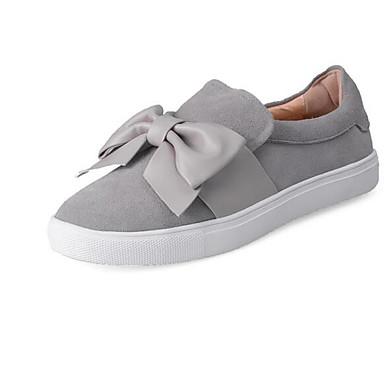 Damen Schuhe Wildleder Frühling Loafers & Slip-Ons Für Schwarz Grau