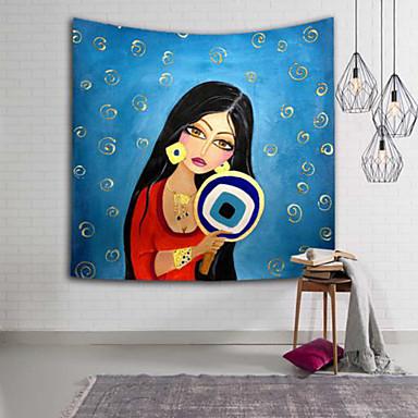 Menschen Wand-Dekor 100% Polyester Asiatisch Wandkunst, Wandteppiche Dekoration