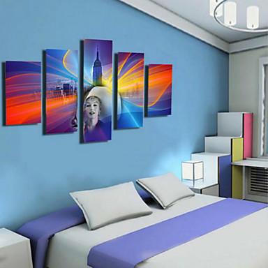 Reprodukce umění retro,Pět panelů Horizontální Grafika Wall Decor For Home dekorace