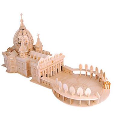 3D-puslespill Puslespill Puslespill i tre Modellsett Kirke Arkitektur Other 3D GDS Naturlig Tre Klassisk Unisex Gave