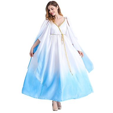 Fairytale Goddess Cosplay Cosplay Costume Party Costume Men's Women's Halloween Carnival Festival / Holiday Halloween Costumes White+Blue
