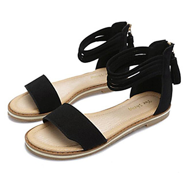 Women's Shoes Nubuck leather Summer Comfort Sandals For Casual Black Light Brown