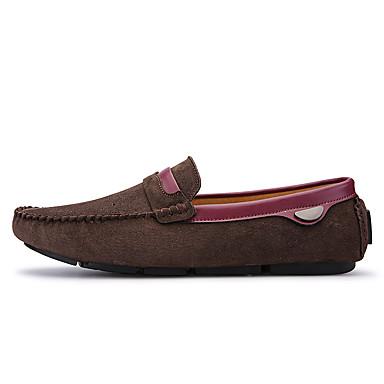 Miehet kengät Nahka Kevät Kesä Uutuus Mokkasiinit Käyttötarkoitus Kausaliteetti Musta Harmaa Ruskea Vaalean ruskea