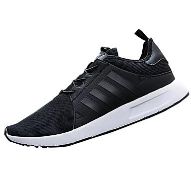 Homens sapatos Tule Primavera Outono Conforto Tênis Cadarço para Casual Preto Azul