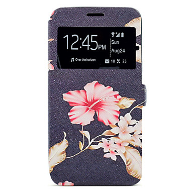 Capinha Para Samsung Galaxy A5(2017) / A3(2017) Porta-Cartão / Com Suporte / Estampada Capa Proteção Completa Flor Rígida PU Leather para A3 (2017) / A5 (2017)