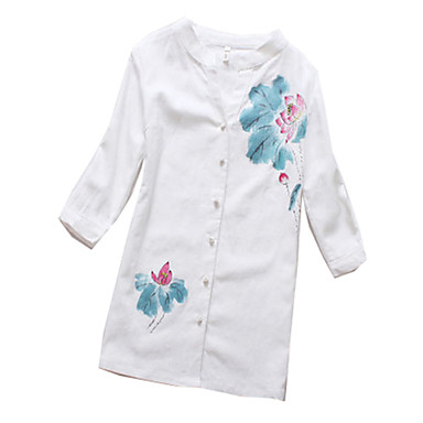 Blouse/Shirt Classic/Traditional Lolita Lolita Cosplay Lolita Dress Print Short Sleeves Blouse For Cotton Fabric