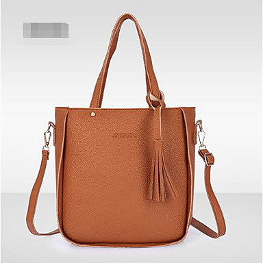 Women Shoulder Bag Polyester All Seasons Casual Outdoor Round Without Zipper Brown