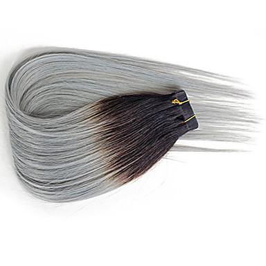 Com Adesivo Extensões de cabelo humano Reto 20pcs / Pacote 14 polegadas 16 polegadas 18 polegadas 20 polegadas 22 polegadas