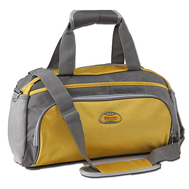 Women Travel Bag Polyester All Seasons Casual Outdoor Round Zipper Black Yellow Fuchsia