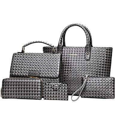 Women's Bags PU(Polyurethane) Bag Set 5 Pieces Purse Set Red / Gray / Brown / Bag Sets
