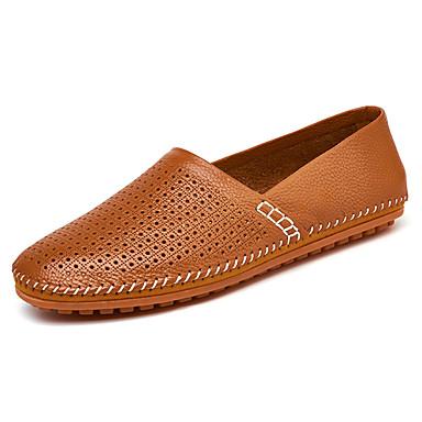 Men's PU(Polyurethane) Spring / Fall Comfort Loafers & Slip-Ons Yellow / Blue / Dark Brown