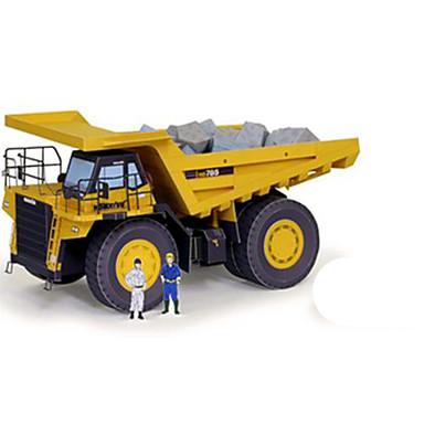 Carros de Brinquedo Quebra-Cabeças 3D Maquetes de Papel Quadrada Caminhão 3D Faça Você Mesmo Cartão de Papel Duro Clássico Caminhão